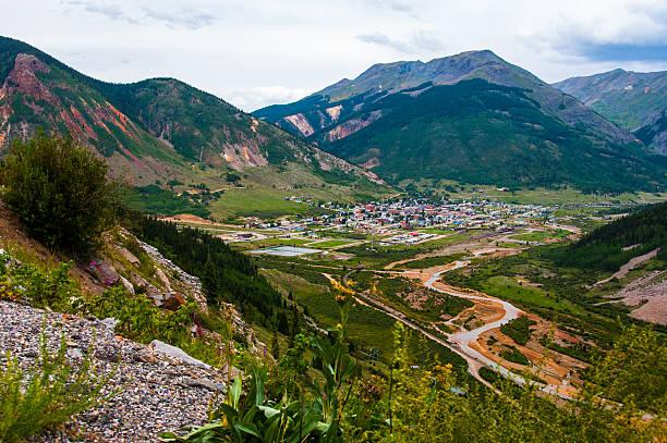 Silverton colorado mining mountain town rocky Mountain stock photo
