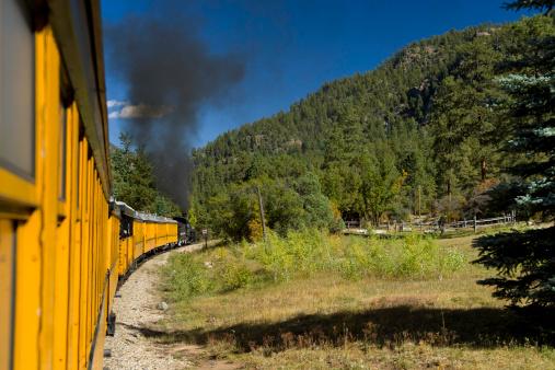 Silverton Durango Narrow Gauge Railroad Train.  Colorado.  ProPhoto RGB