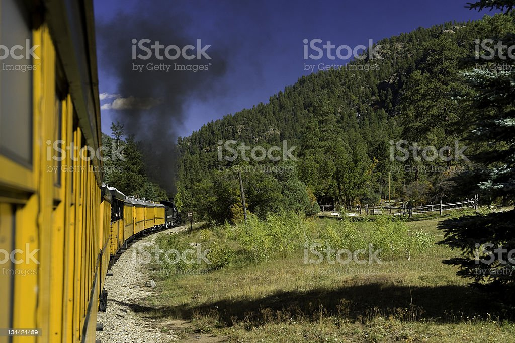 Silverton Durango Narrow Gauge Railroad Train stock photo