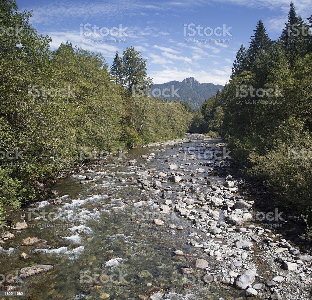 Silverton Washington River stock photo