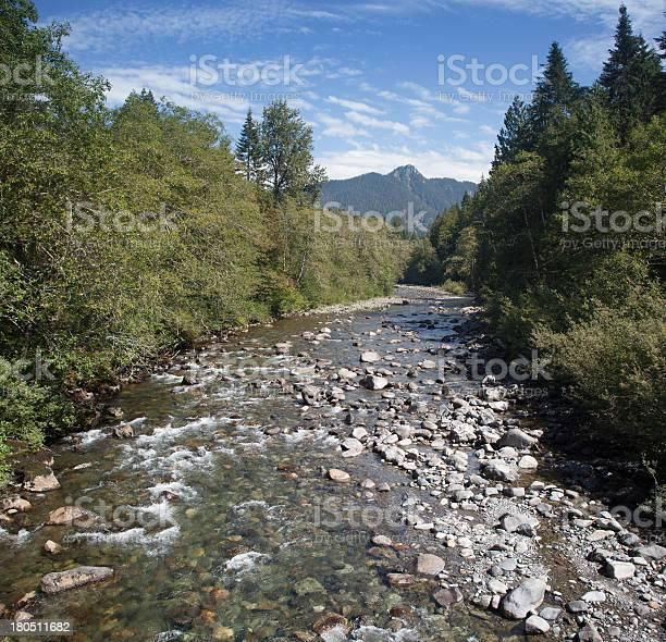 Silverton Washington River Stock Photo - Download Image Now