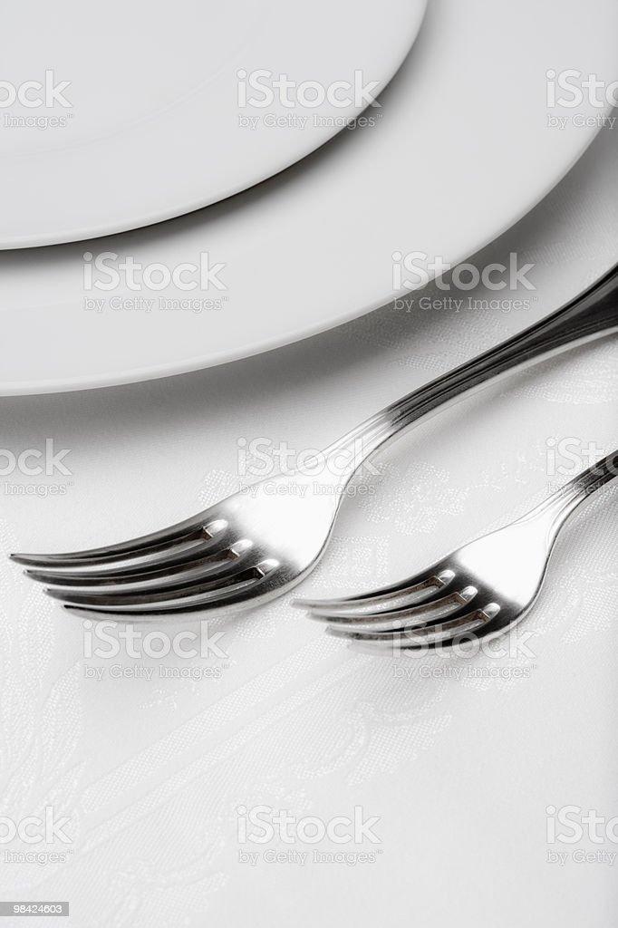 Posate-Primo piano della forks foto stock royalty-free