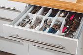 istock Silverware drawer 666785366