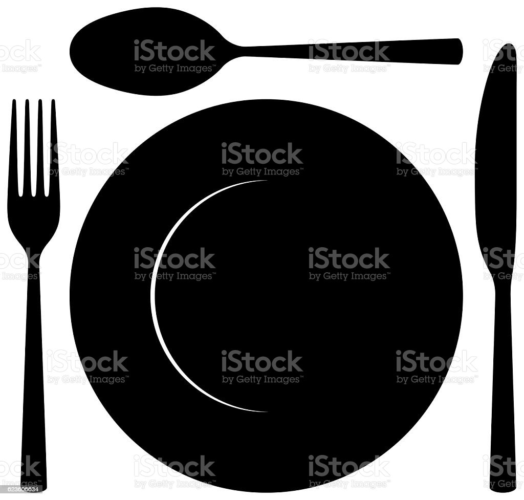 Silverware, Isolated on White stock photo