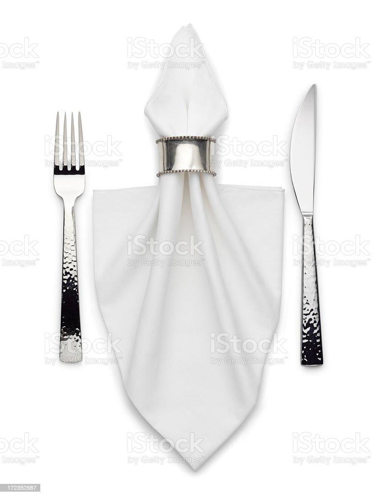 Silverware & Napkin royalty-free stock photo