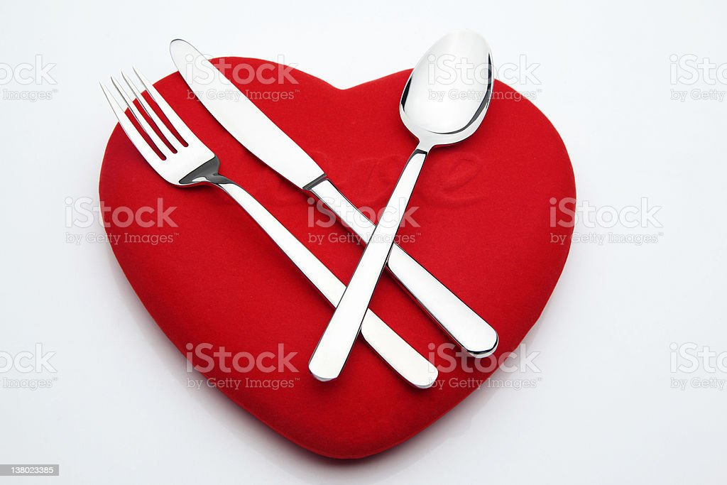 Silverware on Hearth royalty-free stock photo