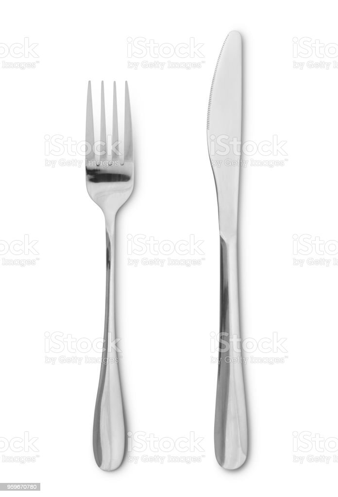 Silverware (with path) stock photo