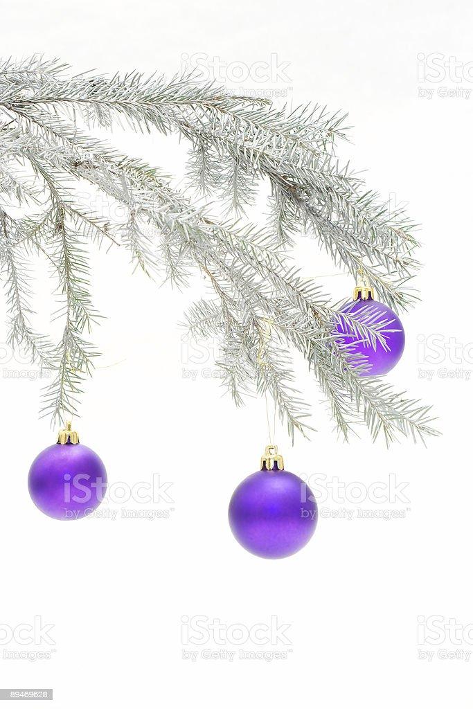 Silvery Christmas decoration royalty-free stock photo