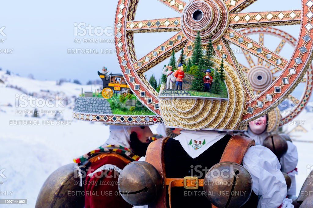 Silvesterchlausen Celebrating New Year In The Canton Of