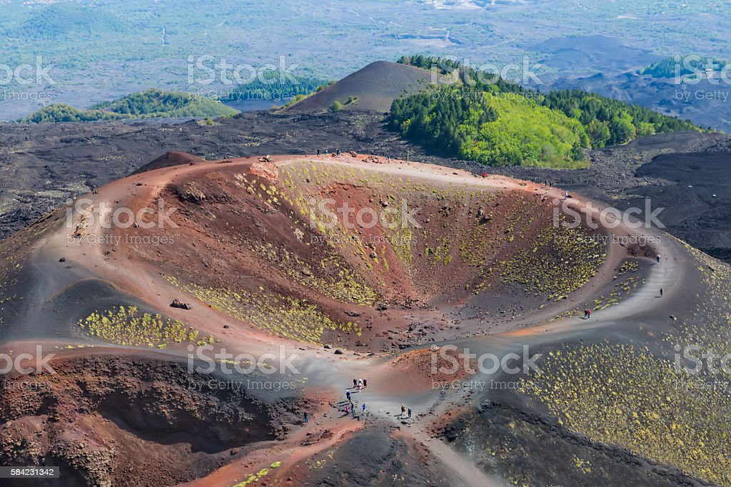 Silvestri crater at Mount Etna at the island Sicily, Italy stock photo
