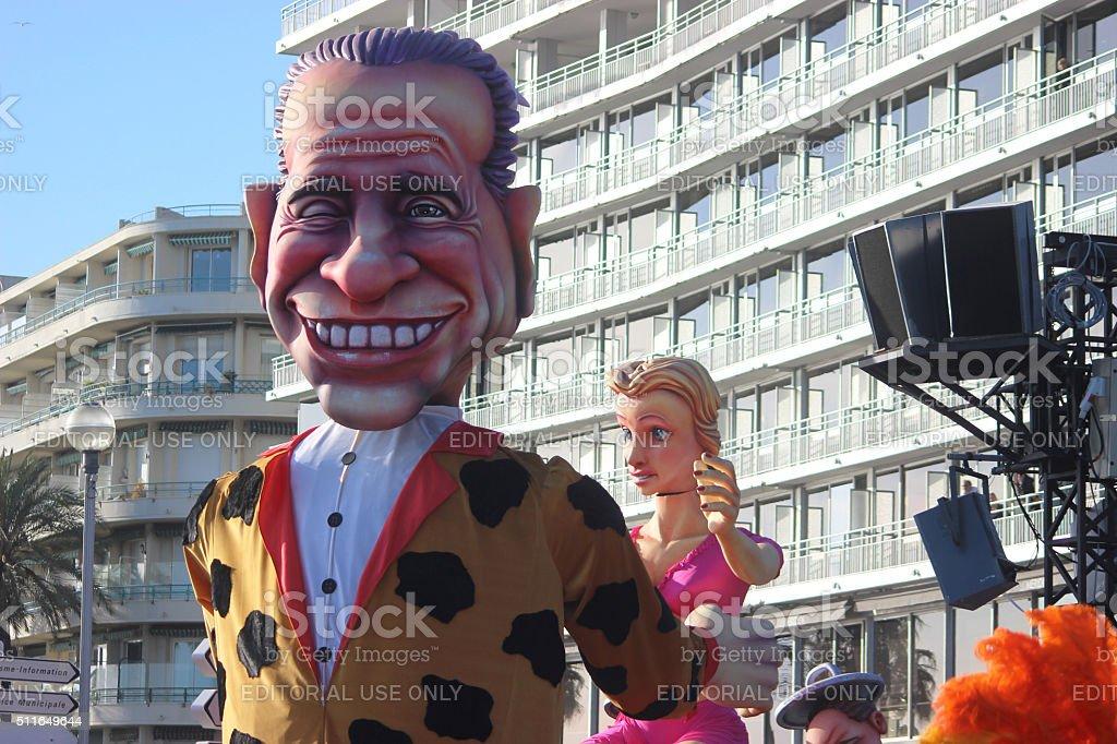 Silvio Berlusconi Bunga Bunga-Carnevale di Nizza - foto stock