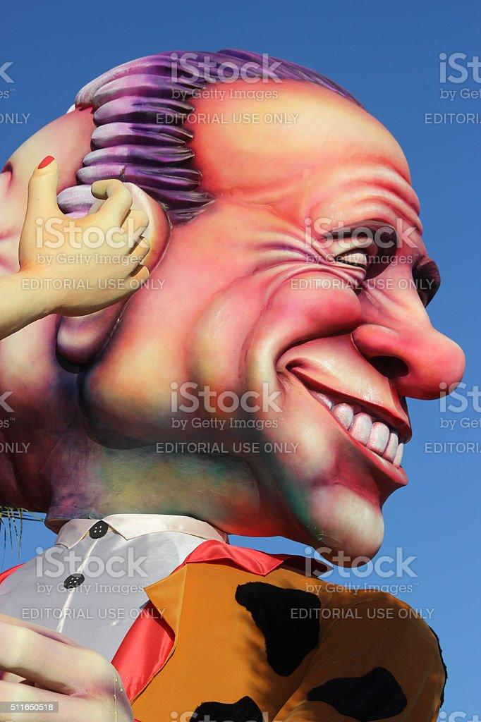 Silvio Berlusconi-Carnevale di Nizza - foto stock