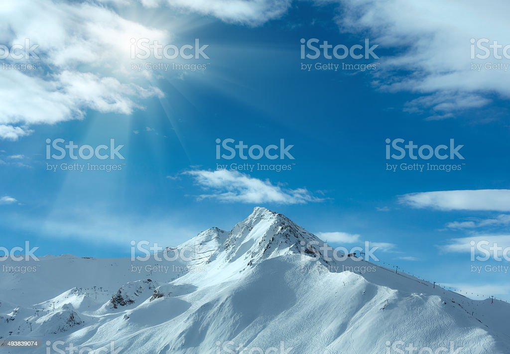 Silvretta Alps winter view (Austria). stock photo