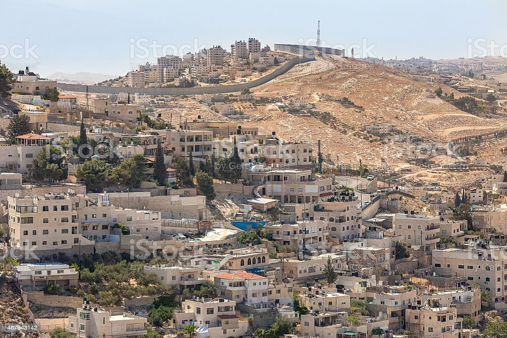 Silwan neighborhood in Jerusalem, Israel. stock photo