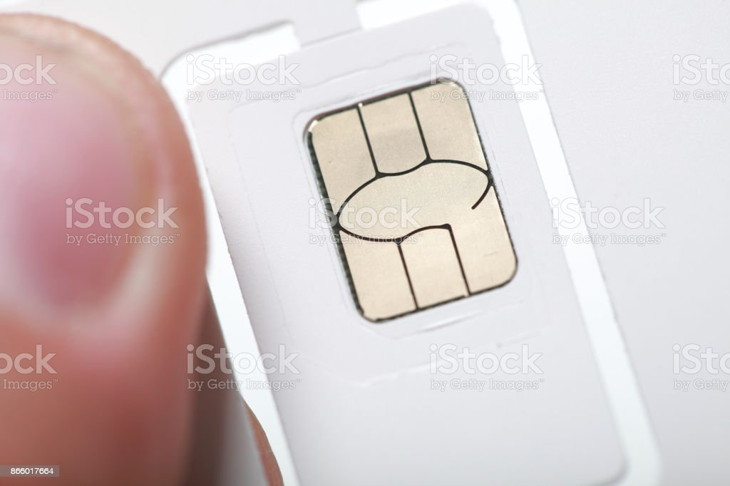 sim card format nano micro and standard stock photo