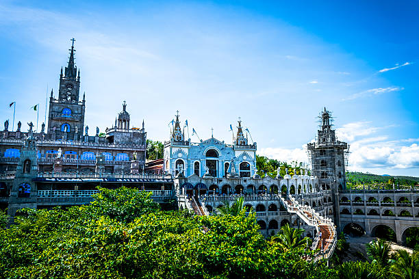 simala church - cebu stockfoto's en -beelden