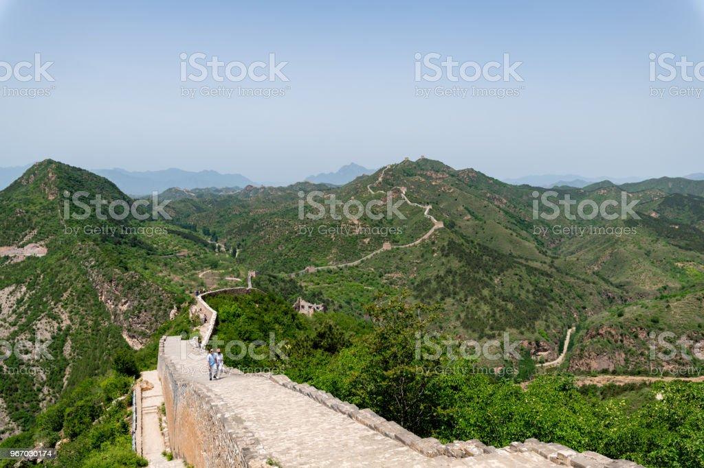 Simatai great wall close to gubei water town in Beijing China, Great wall of China stock photo
