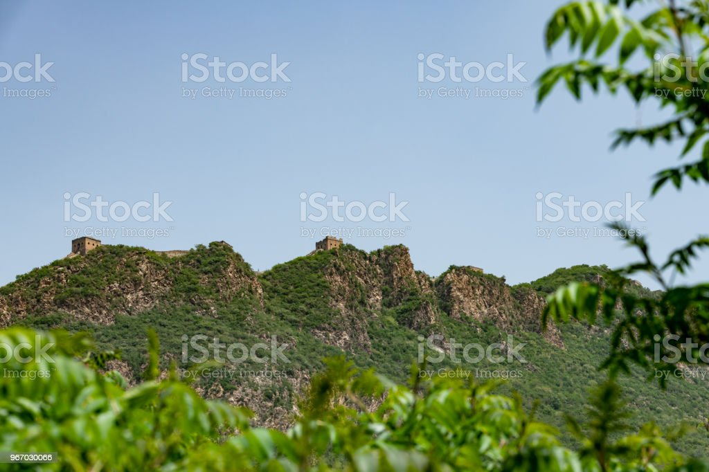 Simatai great wall from Jinshanling side, Beijing in China, Great wall of China stock photo