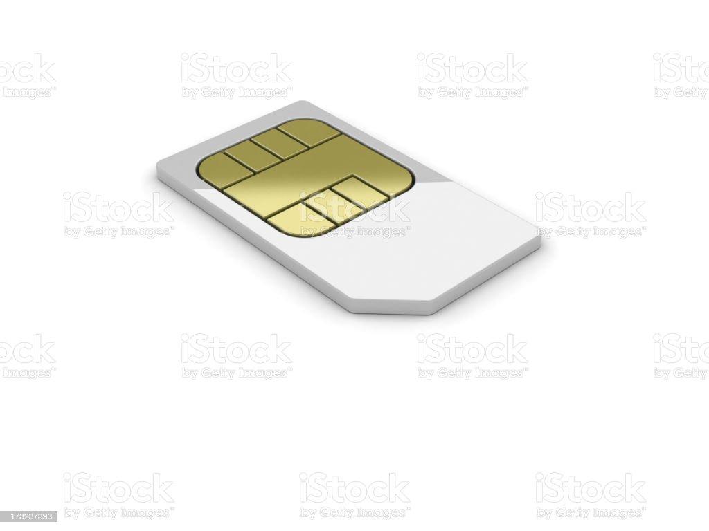 Simcard stock photo