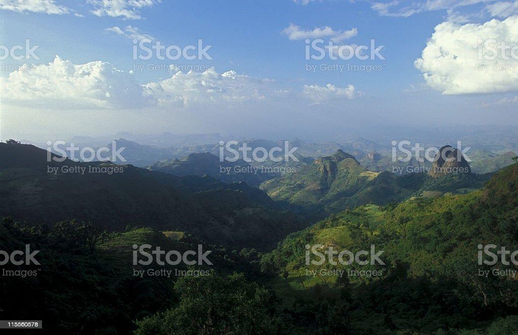 Simien-Mountains in Ethiopia (2) royalty-free stock photo