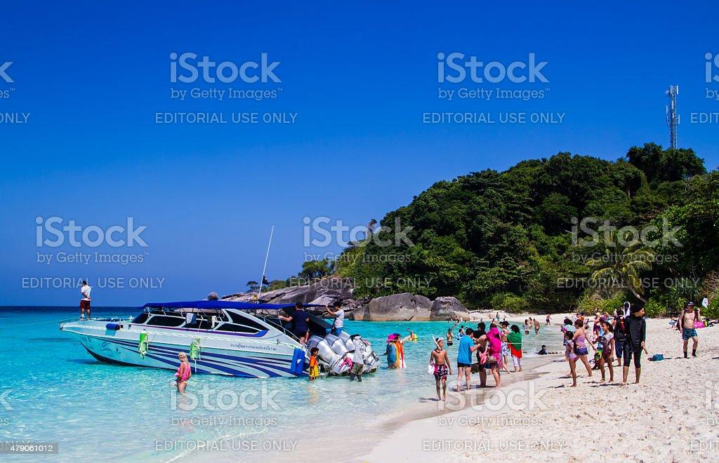 Similan island stock photo