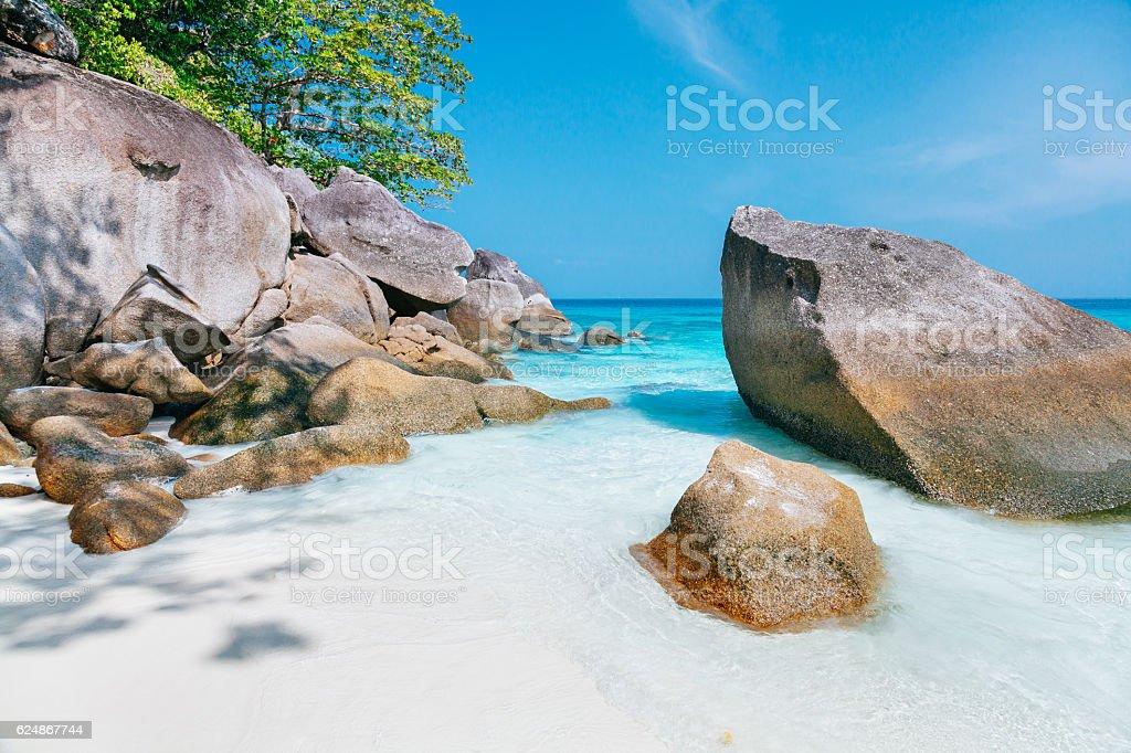 Similan islands beach, Thailand stock photo