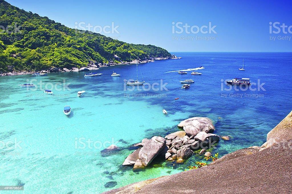 Similan islands, Thailand, Phuket. stock photo