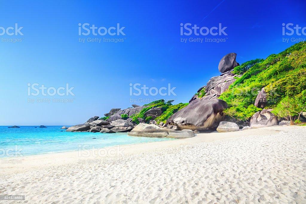 Similan rock island Similan rock island Andaman Sea Stock Photo