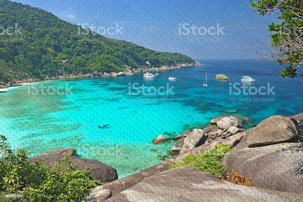 Similan Seascape Thailand Mural The Pond Paper Painting Con Stock