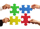 istock Similarity between a business solution and a puzzle 471674947