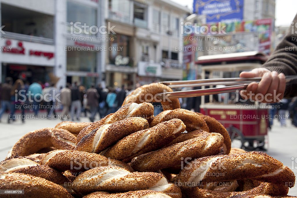 Simit, turkish bagel stock photo