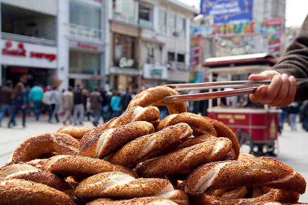 Simit, turkish bagel stock photo