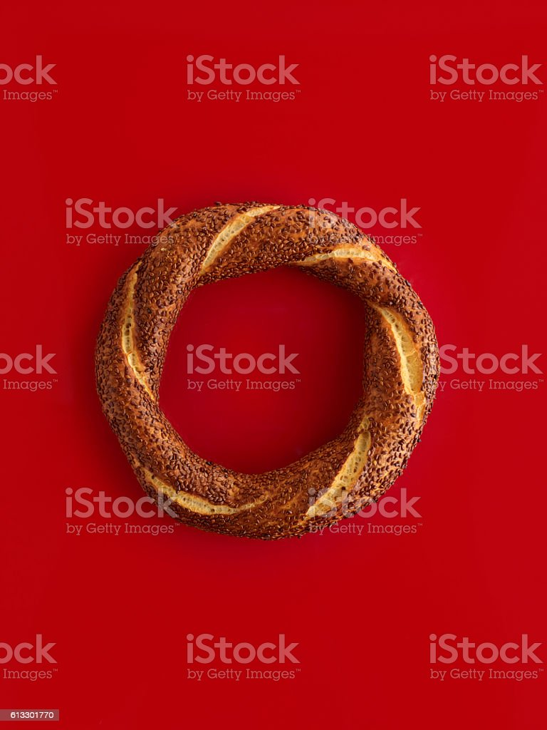 Simit ,Turkish bagel stock photo