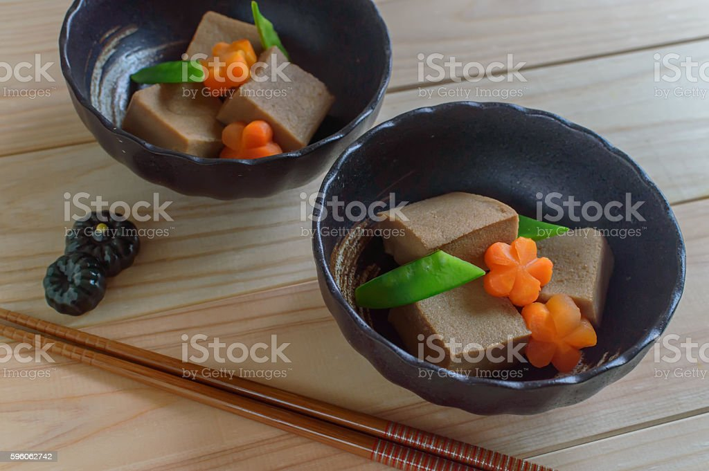 simmered freeze dried tofu royalty-free stock photo