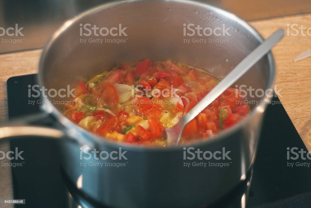 Simmered vegetables stock photo