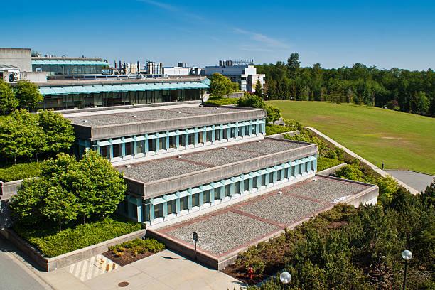 Simon Fraser University in suburban Vancouver, BC, Canada stock photo