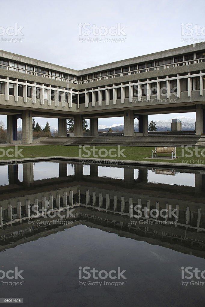 Simon Fraser University Reflection vertical royalty-free stock photo