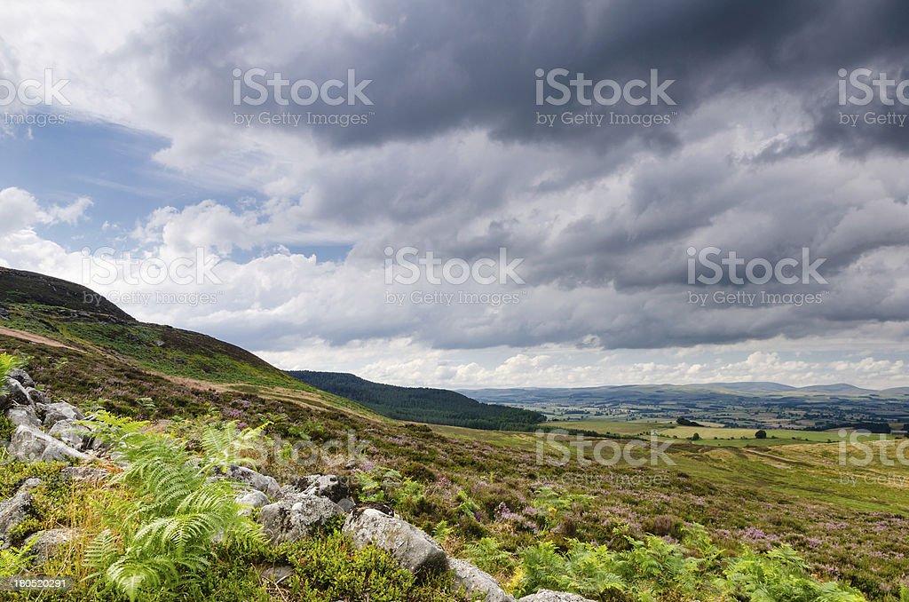 Simonside Hills stock photo