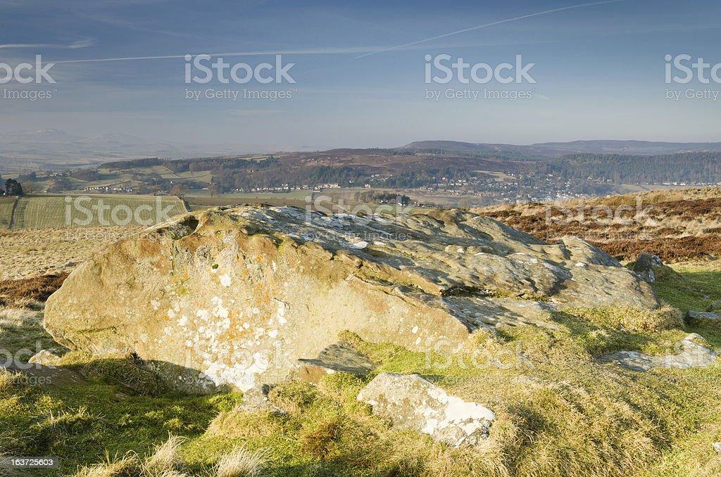 Simonside Hills sandstone stock photo