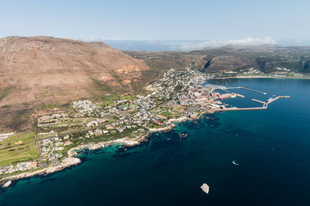 Simonstown (South Africa) aerial view Simonstown (South Africa) aerial view shot from a helicopter naval base stock pictures, royalty-free photos & images