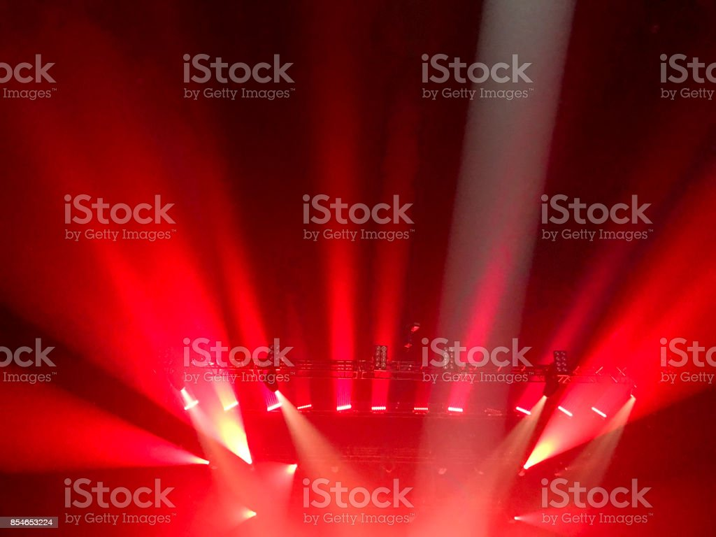 Simple and generic show lights, as often used for all kinds of artistic performances. stock photo