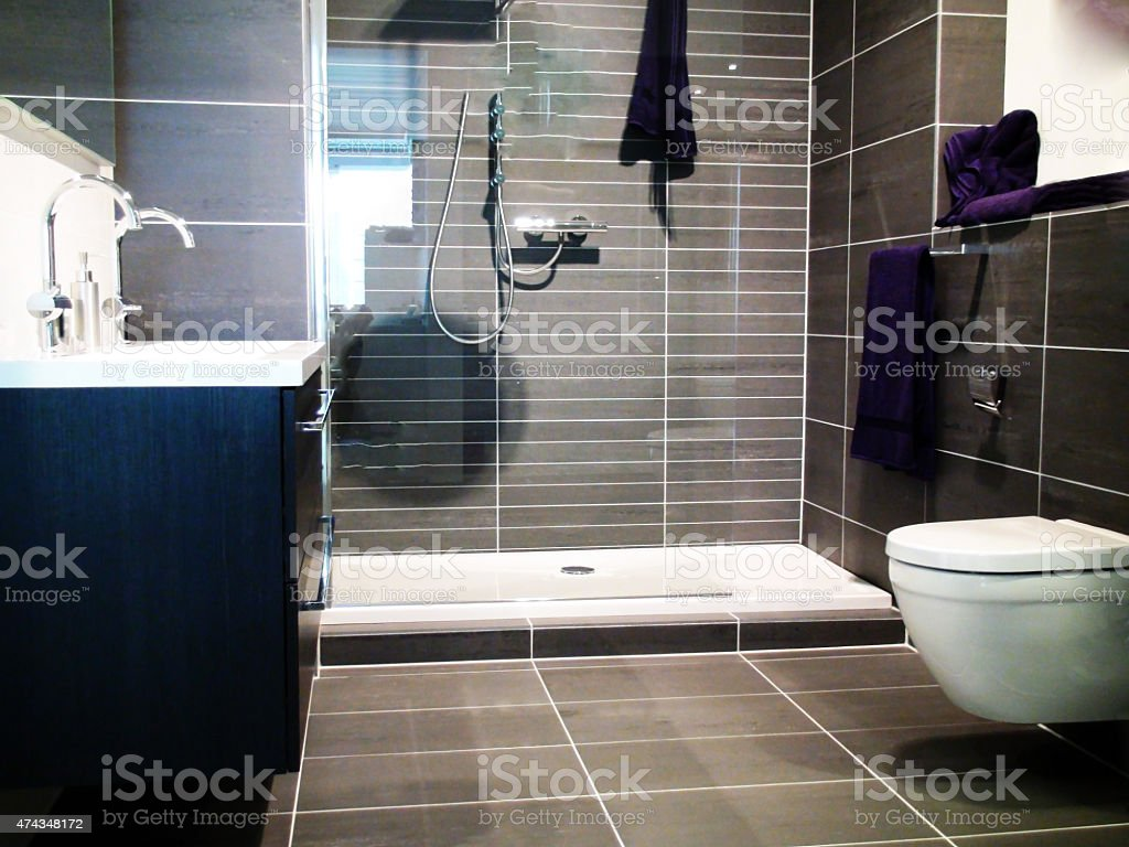 Simple And Nice Bathroom stock photo