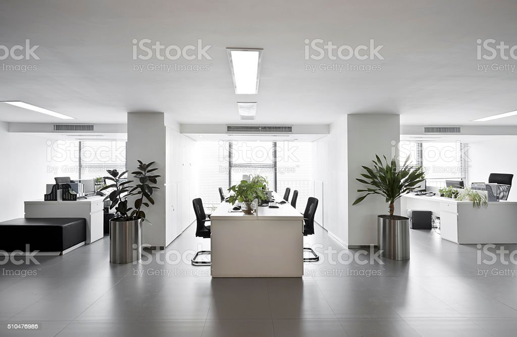 Simple and stylish office environment stock photo