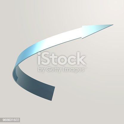 istock Simple and various 3d arrows 955631522