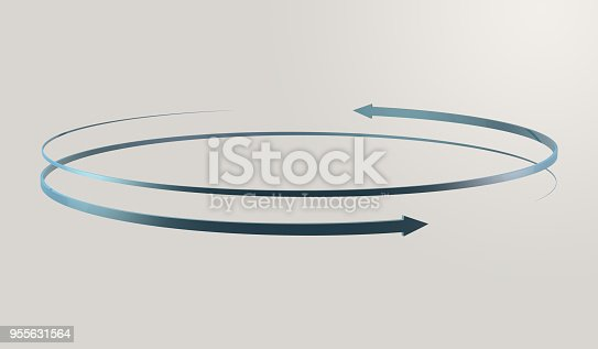 istock Simple and various 3d arrows 955631564