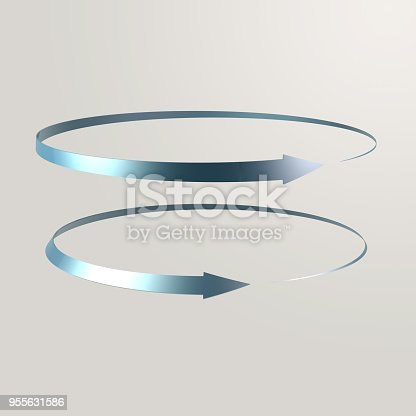 istock Simple and various 3d arrows 955631586