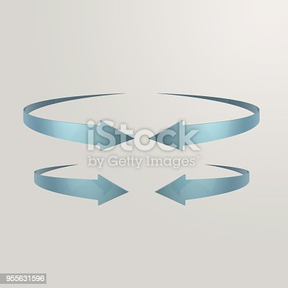 istock Simple and various 3d arrows 955631596
