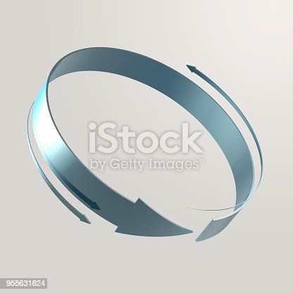istock Simple and various 3d arrows 955631624
