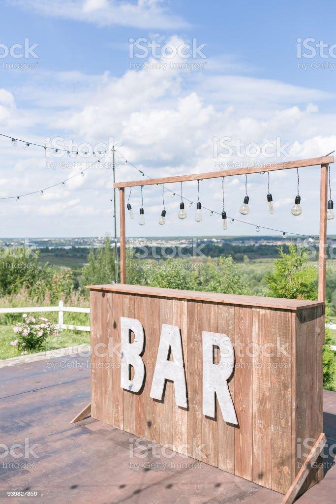 Simple Concepto De La Barra Café De Verano En Terraza Con