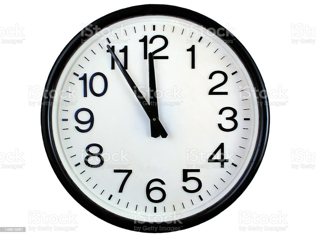 Simple basic model of a wall clock royalty-free stock photo